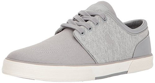 Polo Ralph Lauren Mens Faxon Low-Canvas/Jrsy Hthr Sneaker Grey Ku4m2s