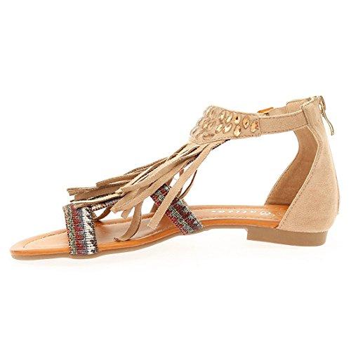 CATISA-sd4_ll658-Sandale para mujer Beige - beige