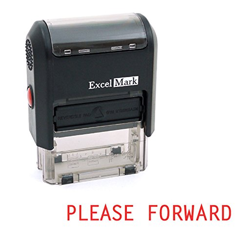 PLEASE FORWARD Self Inking Rubber Stamp - Red Ink (ExcelMark A1539)
