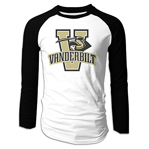Price comparison product image AIJFW Vanderbilt University Men's Crewneck Baseball Tshirt XXL