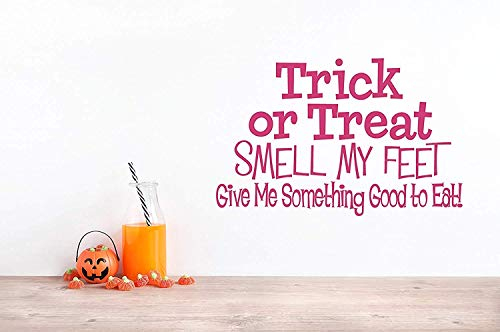 Quote Trick Or Treat Smell My Feet Give Me Something Good to Eat Halloween Song Candy Home Decoration for Living Room Wall Decals Decor Vinyl Sticker Q4810 -