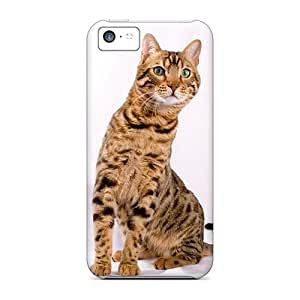 Premium GBWer11584VrvuU Case With Scratch-resistant/ Cat Different Eyes Case Cover For Iphone 5c
