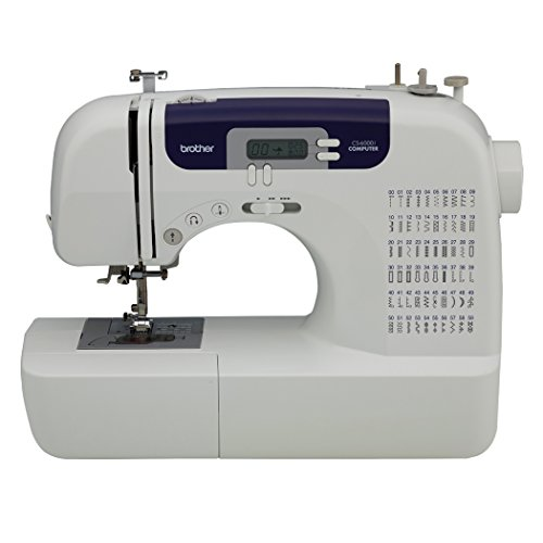 Brother CS6000i Feature-Rich Sewing Machine With 60 Built-In Stitches, 7 styles of 1-Step Auto-Size Buttonholes, Quilting Table, and Hard Cover - Country Style Computer