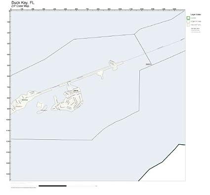 Where Is Duck Key Florida Map.Amazon Com Zip Code Wall Map Of Duck Key Fl Zip Code Map Not
