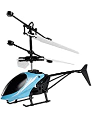 Flying Mini RC Remote Helicopter Radio Control Aircraft Gift Toy for Kids Children Blue