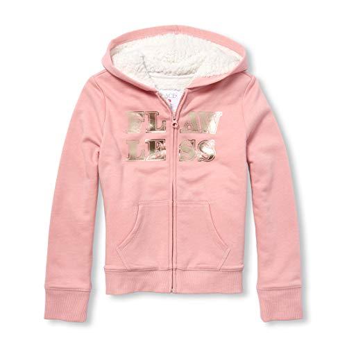 Sweatshirt Kids Girl Places - The Children's Place Big Girls Graphic Hoodies, SACHETPINK L (10/12)