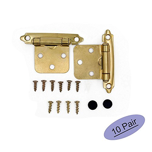 - Brass Cabinet Hinges Face Mount Self Closing Kitchen Cabinet Hinges - Goldenwarm Variable Cabinet Overlay Hinges SCH30BB-10Pair