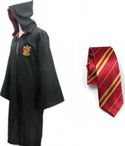 Xmas Halloween Costume Cosplay Black+Red Robe Cloak Fancy Dress Cape With Tie Size S (Fancy Dress Costumes Adults)