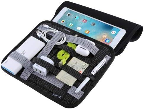 Desconocido Generic HAWEEL 10 Inch Tablet Wrap Organizer Neoprene Digital Storage Pocket Bag(Black): Amazon.es: Jardín