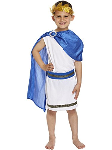 Henbrandt Kids Boys Roman Emperor King Toga Caesar Greek Childs Fancy Dress Costume Outfit World Book (King Fancy Dress Child)