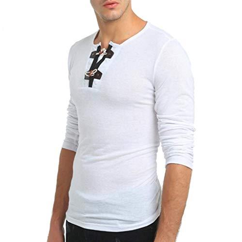 Con Sudadera De Botón Extra Para Camisa Jersey Slim Modernas Punto Cachemir Hombre Larga Corte Liso Longra Botones Blanco Color Frontal Manga Casual Grandes zAggaSqI