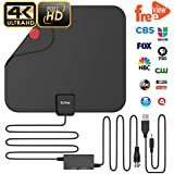Updated 2018 Version Professional TV Antenna, Indoor Digital HDTV Antennas Amplified 85 Miles Range 4K HD Freeview for Life Local Channels for All Type of Home Smart Television with Signal Controller