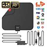 #7: Updated 2018 Version Professional TV Antenna, Indoor Digital HDTV Antennas Amplified 85 Miles Range 4K HD Freeview for Life Local Channels for All Type of Home Smart Television with Signal Controller