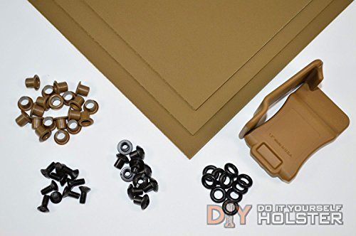 Kydex (Boltaron) Holster DIY Kit w/ Quick Clips (1.75