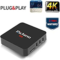 Richino Q4 Android 5.1 Streaming Media Player/HD TV BOX with Wifi,H.265,LAN 1000M