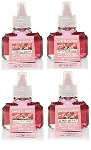 Yankee Candle 4 Pack Home Sweet Home ScentPlug Refill 0.6 Oz.