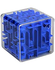 3D Maze Cube Transparent Beads Toys Three-Dimensional Labyrinth Ball Rotate The Rubik's Cube / blue