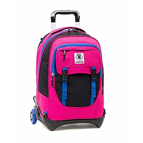 0f4c1757412 TROLLEY PLUG plain BICOLOR Invicta 32 LT zaino staccabile cartella scuola  BACK PACK Seven ROSA