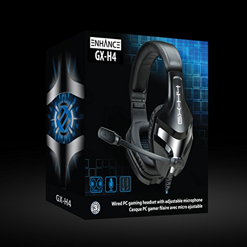 ENHANCE GX-H4 Computer Gaming Headset with Microphone - Braided Cable , Noise Isolating Headphones , Comfort Design Headband - Connect with 3.5mm AUX - INFILTRATE Series by ENHANCE (Image #8)