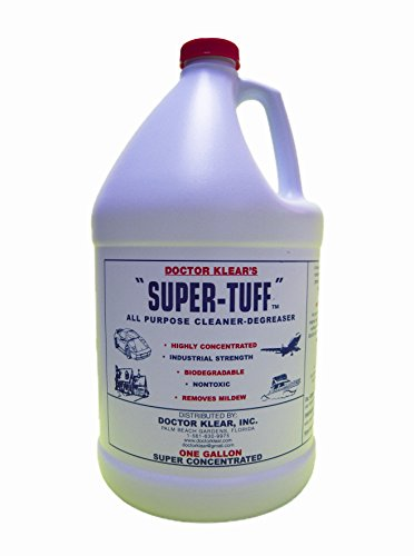 Super Tuff industrial strength cleaner degreaser is the Best cleaner for upholstery, carpet stains, mildew, canvas, sunbrella, patio furniture, grills, decks, teak, great for use in pressure washers for driveways, decks, to prep for paint, roof tile ad so much more. Safe for plants! (Grill Teak)