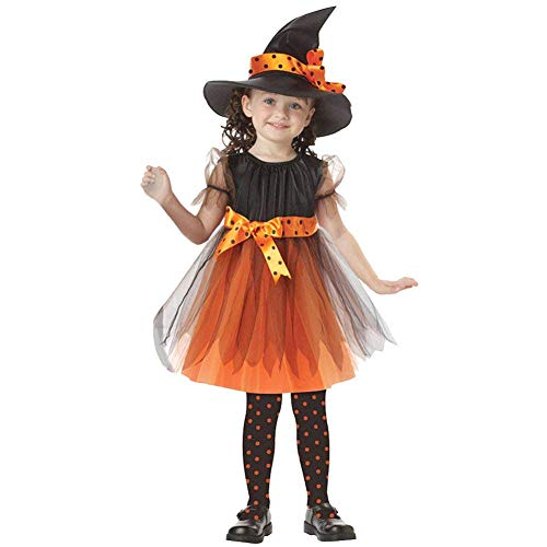 Jxstar Girls Dress Up Witch Halloween Costume Cosplay Party Fancy Dresses -