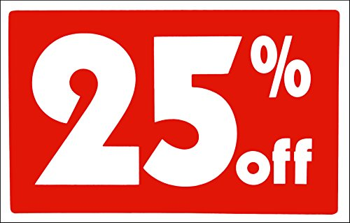 25 off Signs Store Business Signs in Store Signage Plastic Sale Sign