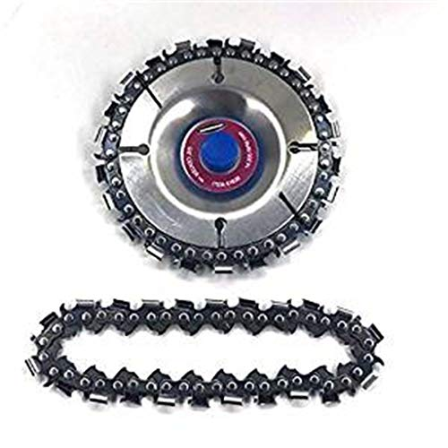 Clothful  Clearance on Sales  Grinder Chain Disc 4 Inch Wood Carving Disc For 100/115mm Angle Grinder 22 Tooth