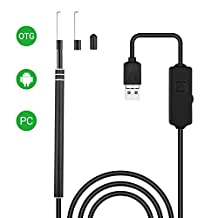 USB Ear Endoscope Borescope Camera, Ear Inspection Camera Waterproof OTG Function Otoscope with 6 Adjustable LED Light, Earwax Clear Remover Tool for Android Phone PC by AttoPro