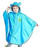 Nideen Kids Lightweight Jacket Waterproof Outwear Raincoat Blue M