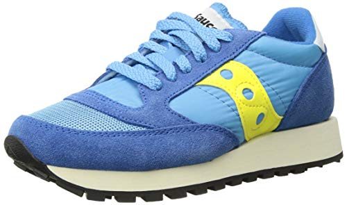 Saucony Originals Women's Jazz Original Sneaker, Blue/Yellow, 8 M US
