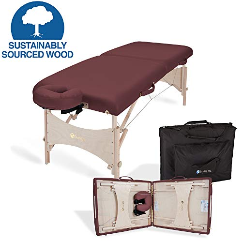 (EARTHLITE Portable Massage Table HARMONY DX - Eco-Friendly Design, Hard Maple, Superior Comfort, Deluxe Adjustable Face Cradle, Heavy-Duty Carry Case (30
