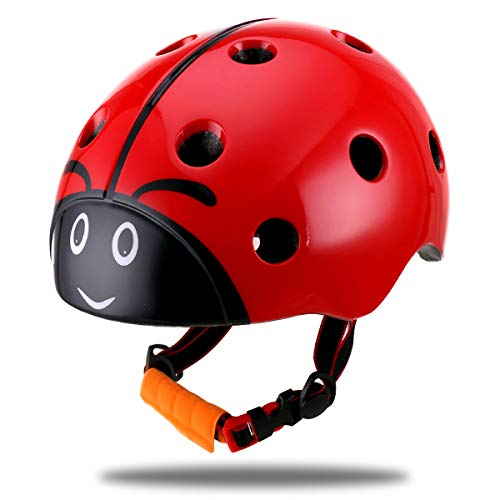 DR BIKE Multi-Sport Kids Helmet for Cycling Skating Scooting - Adjustable Child Helmet for 3-8 Years Old Boys, Girls, Toddler, Preschool, Pupil (52-57cm)