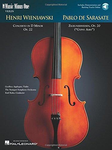 Wieniawski - Violin Concerto No. 2 in D Major, Op. 22 & Sarasate - Zigeunerweisen, Op. 20: Music Minus One Violin Bk/Online Audio (Music Minus One (Numbered)) by Music Minus One