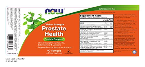 NOW Clinical Strength Prostate Health,90 Softgels