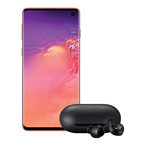 Samsung Galaxy S10 Factory Unlocked Phone with 128GB (U.S. Warranty), Flamingo Pink w/Galaxy Buds