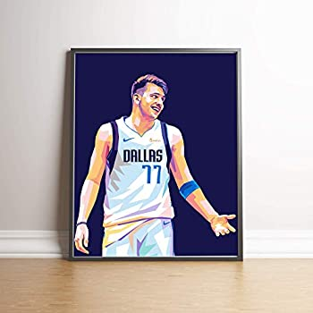 Luka Doncic Poster Luka Doncic Art Print Basketball Decor Dallas Mavericks Poster Man Cave Gifts Sports Posters Basketball Poster Sports Art Print Basketball Wall Art