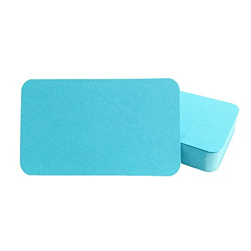 Blank Cardboard paper Message Card Business Cards Vocabulary Word Card Index Cards DIY Gift Tags Card About 100pcs,Sky blue