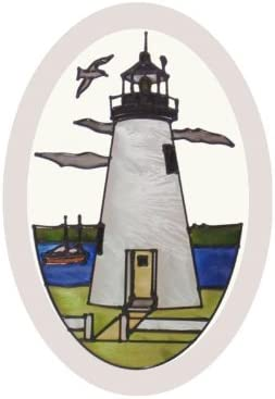 Silver Creek Maryland Concord Point Lighthouse Painted Glass Suncatcher O-1047