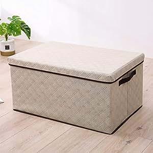 PPCP Storage Box Non-Woven Diamond Shaped Storage Box Foldable Storage Box (Color : Beige)