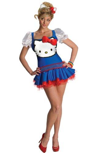 Secret Wishes  Hello Kitty Classic Dress, Blue, X-Small -