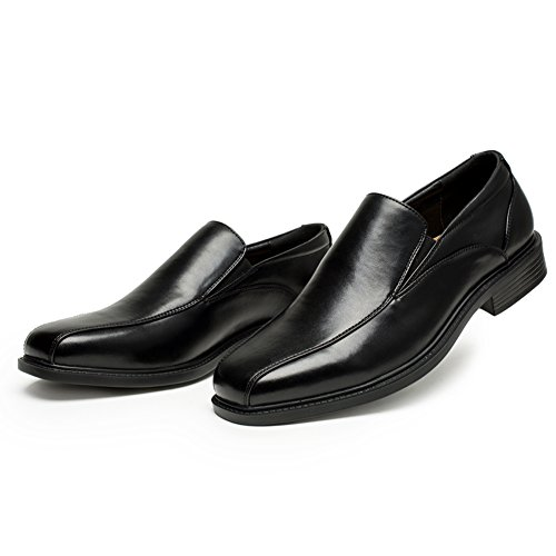 GOLAIMAN Men's Classic Dress Loafer Shoes Formal Slip-On Shoes Bike Toe Leather Lined Oxfords (Black 9) Lo Mens Classic Shoes