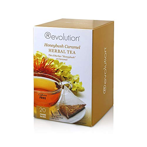 Revolution Tea Herbal Tea, Honeybush Caramel, 20 Count (Pack of 6)