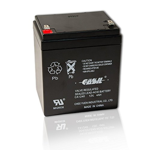 CASIL CA-1240 12V 4AH Replacement Battery for ADT 804302 12V 4.5Ah Alarm by