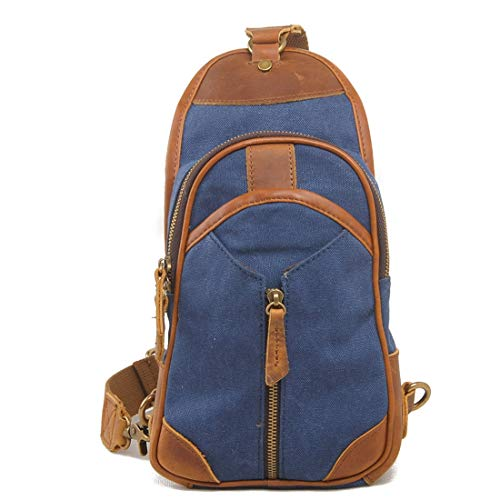 Bolso Con Casual Coffee Lona De color Color Weatly Blue Bandolera tH1vvx