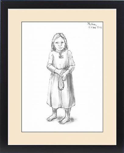Framed Print of Anglo-Saxon girl (Children's Anglo Saxon Costume)