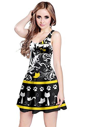 Senza Animale Gatto Modello Xs Di Pulldog Cowcow Gatti Scuro Animali Womens Pug Uccello Cute Del Cigno Maniche 5xl Dogs Tigre Abito w8XTxqBxH