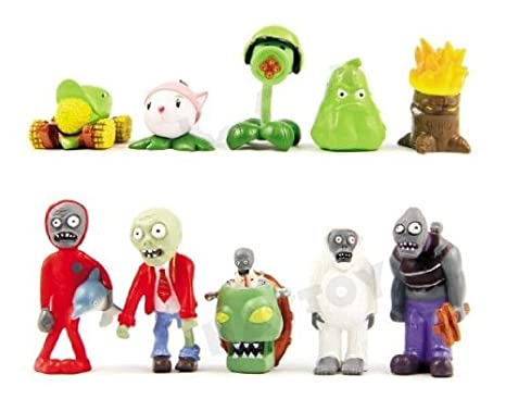 Amazon com: 10 x Plants vs Zombies Toys Series Game Role