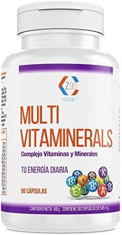 Complejo vitamínico con minerales, vitamina