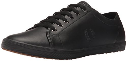 Fred Perry Kingston Lederen Sneaker Zwart