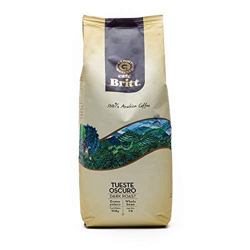 Cafe Britt Costa Rica Dark Roast Whole Bean Coffee, 2 Pound